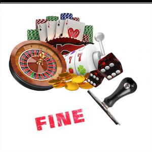 Geldstrafe für 2 Casinomarken