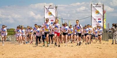 Läufer an den Start